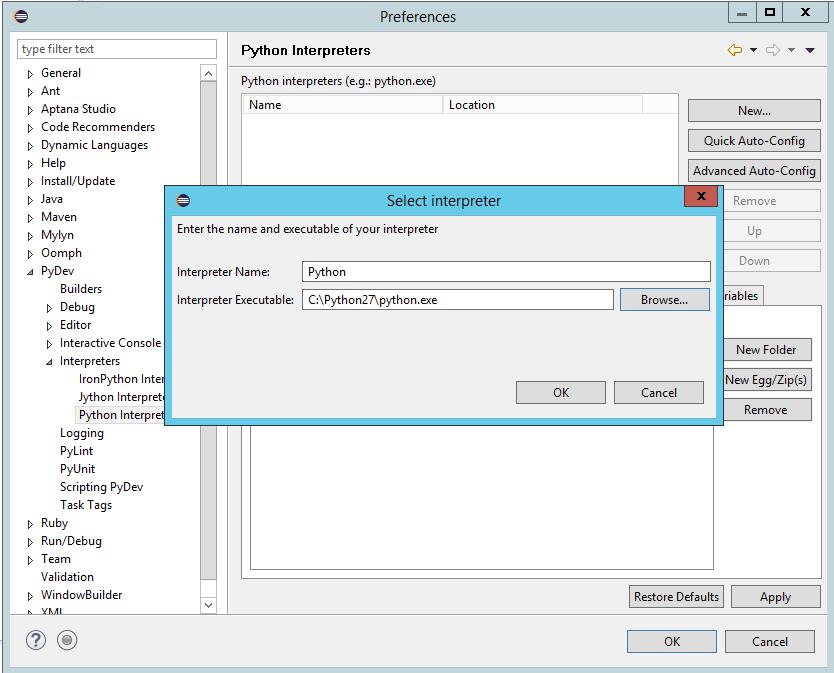 Selenium with Python tutorial: Python Interpreter configuration