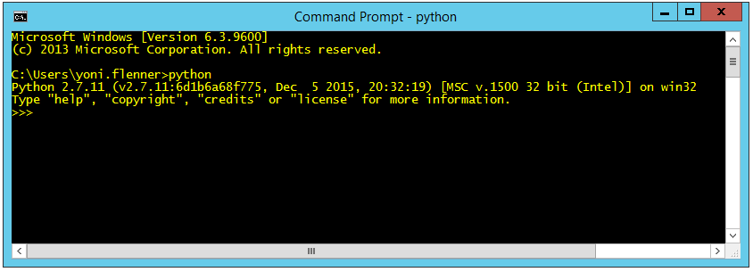 Selenium with Python tutorial: Command line message