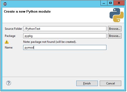 Selenium with Python: Create New PyDev Module
