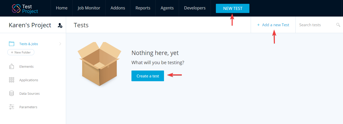 TestProject_Create New Test