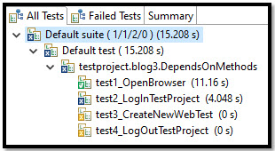 Test Report with a dependency