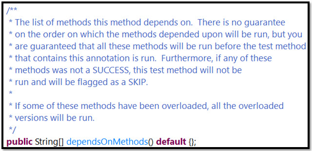 dependsOnMethods