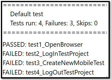 Test Report without a dependency