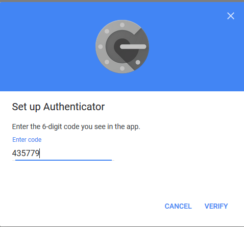 Authenticator App - Key