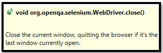 close vs. quit Browser Methods