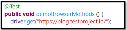 Code for the get Browser Method