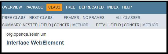 Selenium WebElement Method