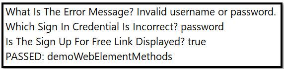 isDisplayed() method