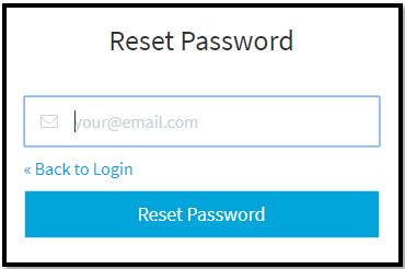TestProject Reset Password Page