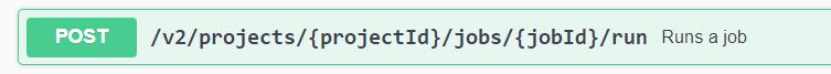 Trigger Job with TestProject API