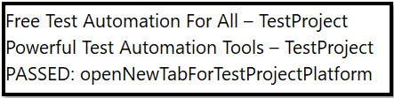 TestProject Platform - Powerful Test Automation Tools