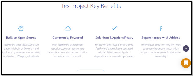 TestProject Benefits