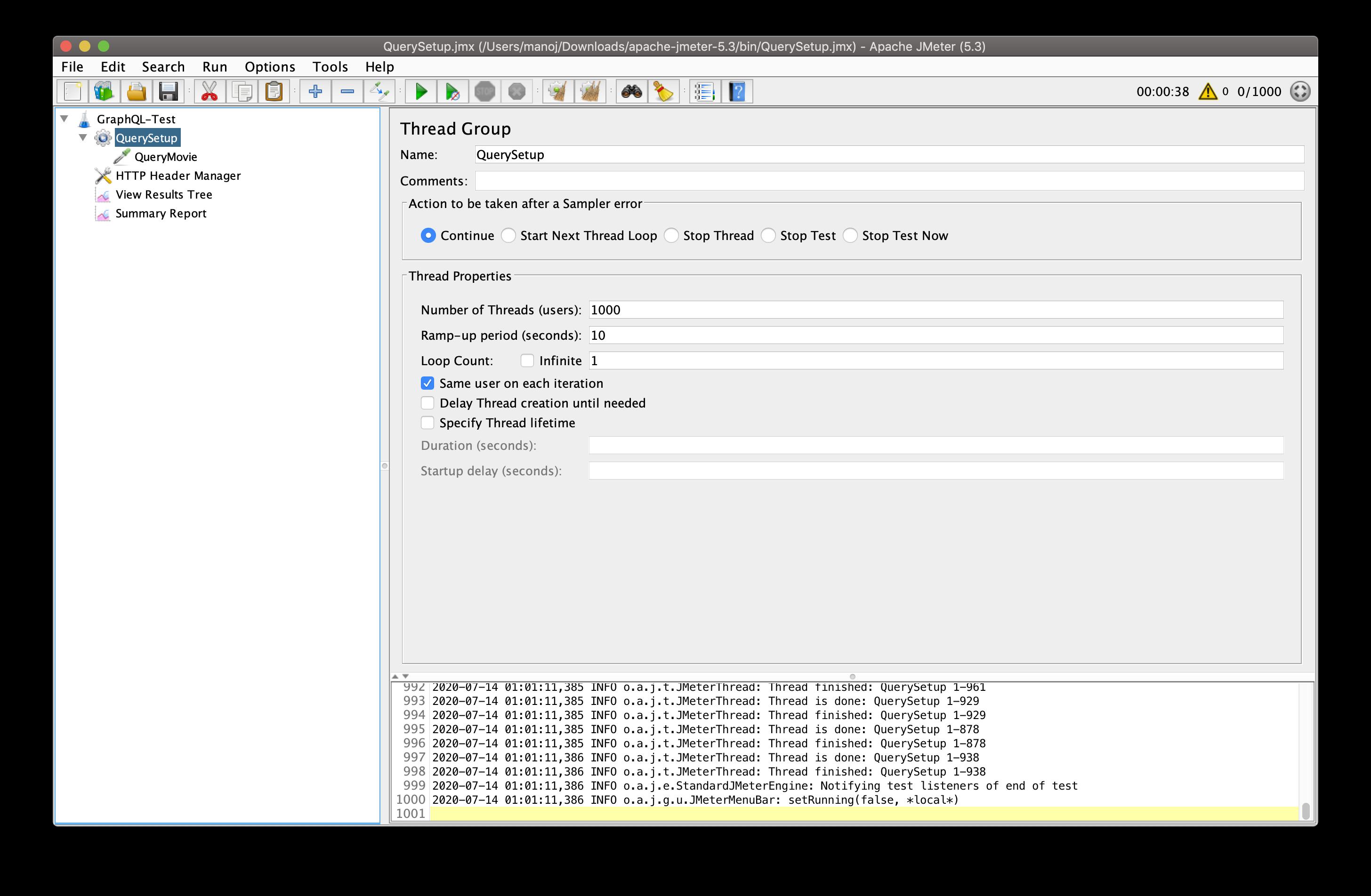 Performance Testing of GraphQL API