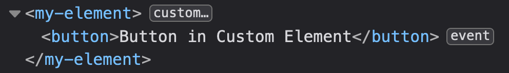 Custom Element Code rendered on Browser