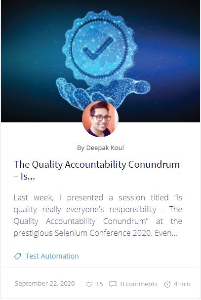 The Quality Accountability Conundrum – Is Quality Everyone's Responsibility?