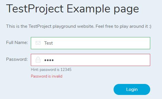 failed login - Invalid password