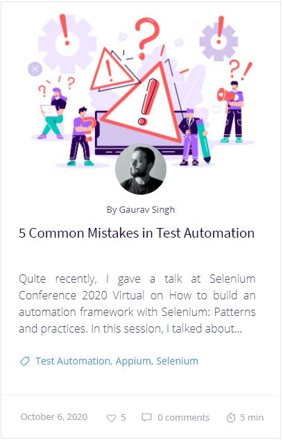 5 Common Mistakes in Test Automation