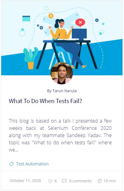 What To Do When Tests Fail?
