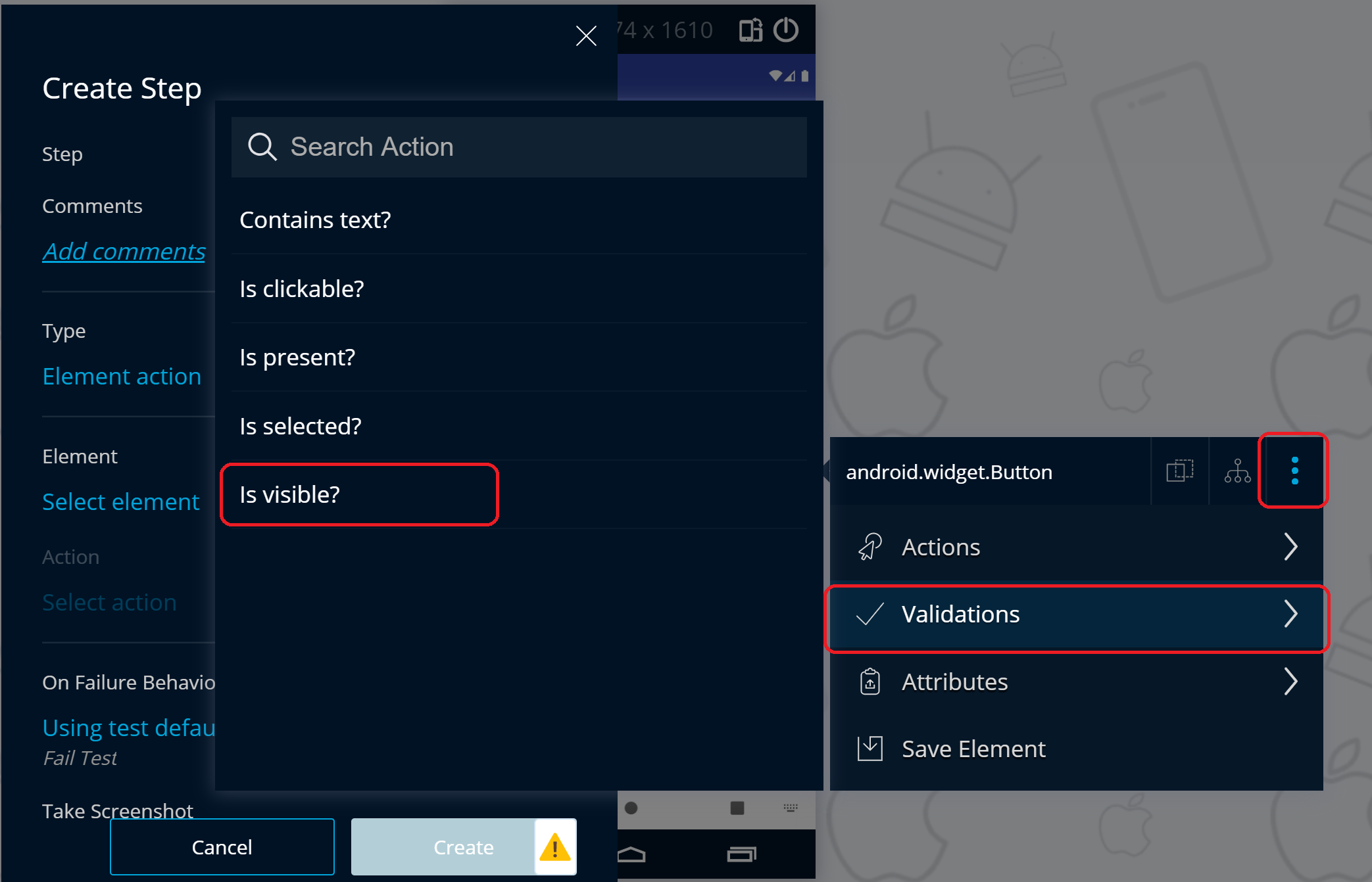 Validate Logout button is visible