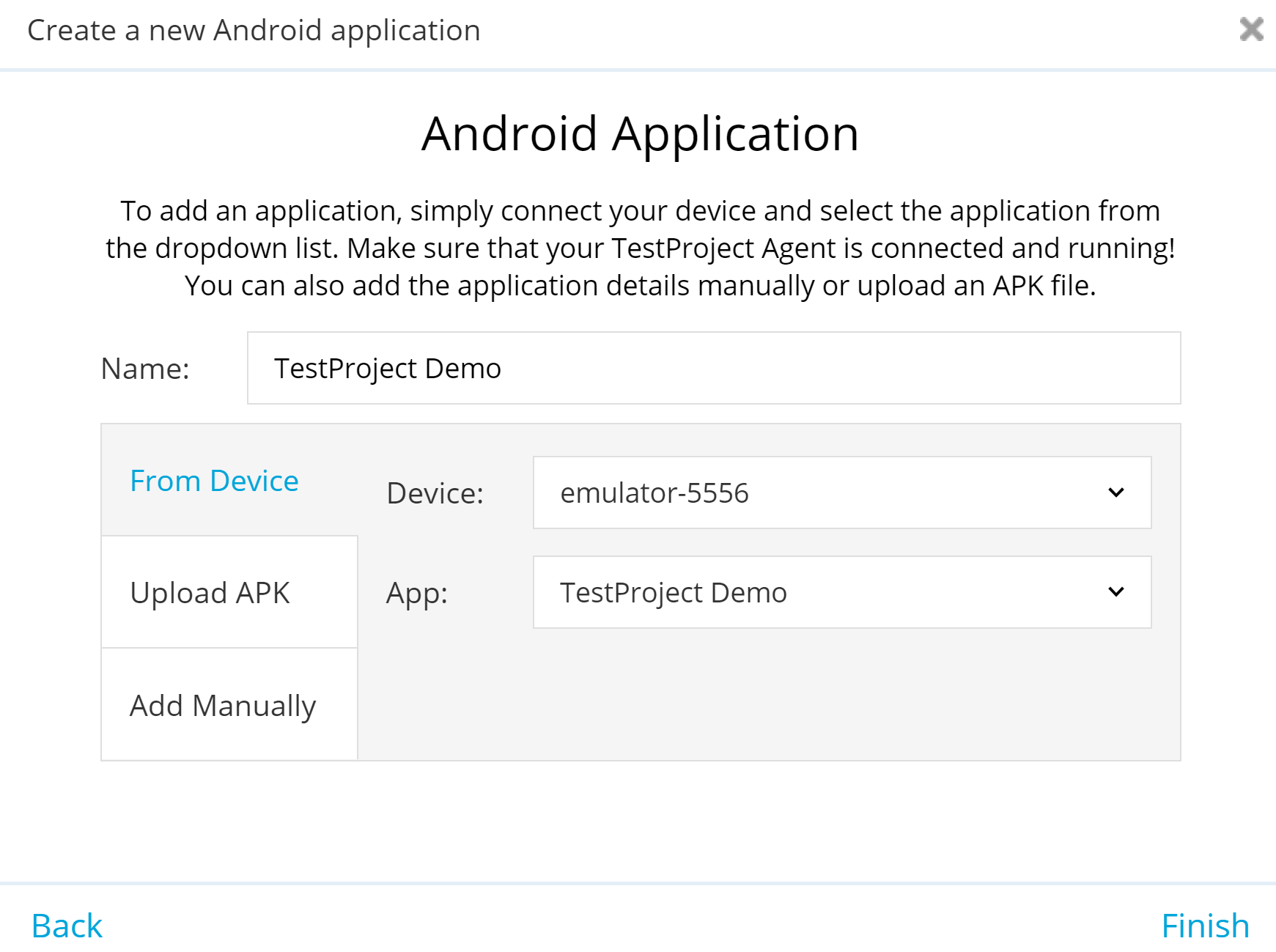 Select device and application
