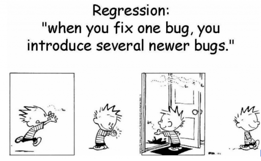 Regression testing bugs
