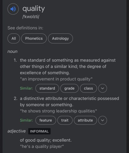 Google's Definition of Quality
