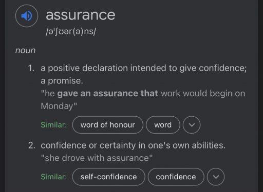 Google's Definition of Assurance