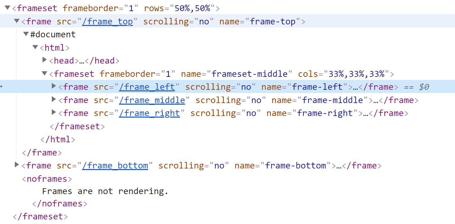 Nested Frames in HTML