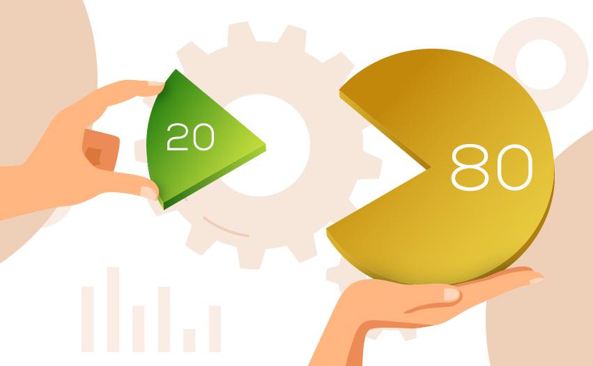 Pareto's 80/20 principle in software testing