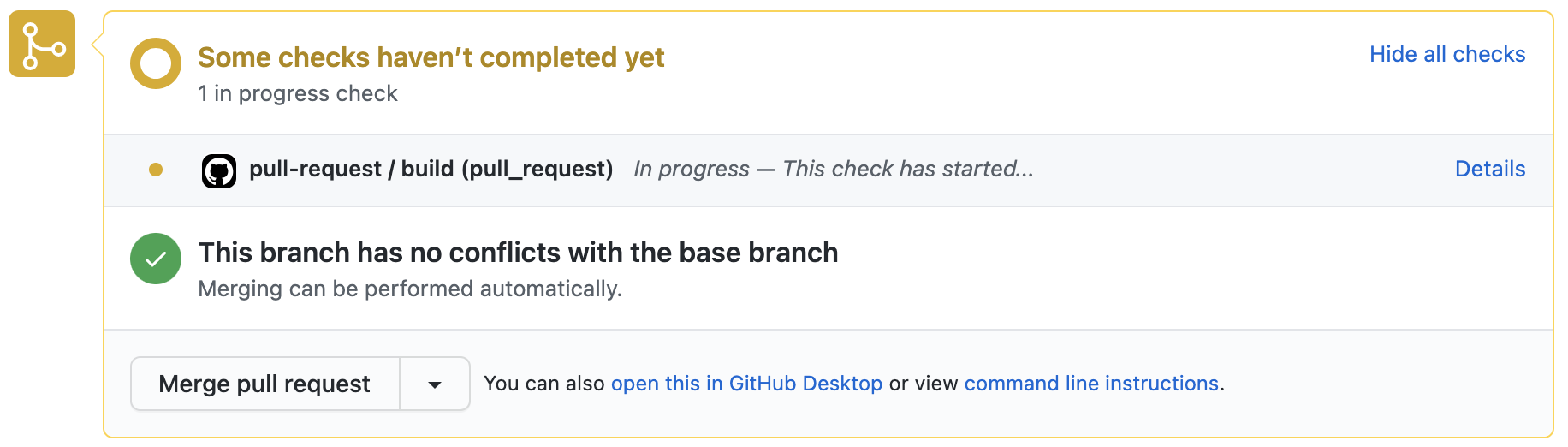 GitHub Actions pending build