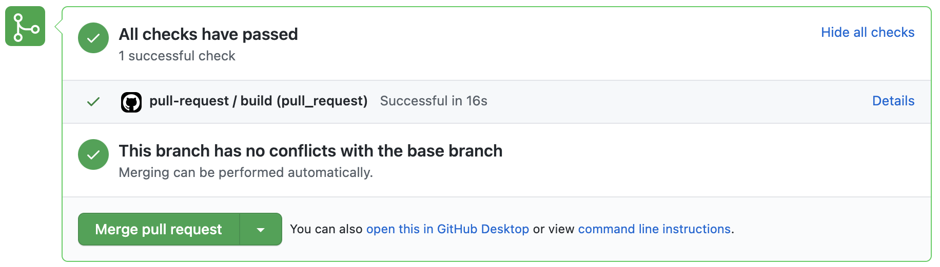 GitHub Actions successful build