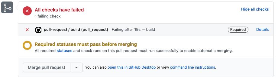GitHub Status Section