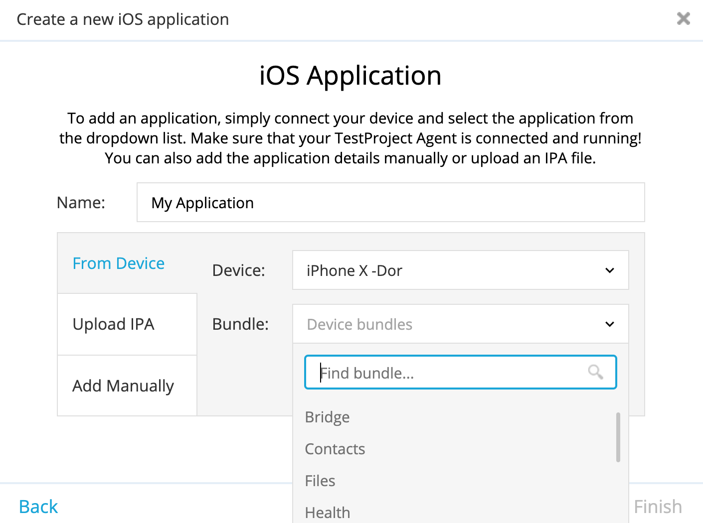 TestProject iOS test automation