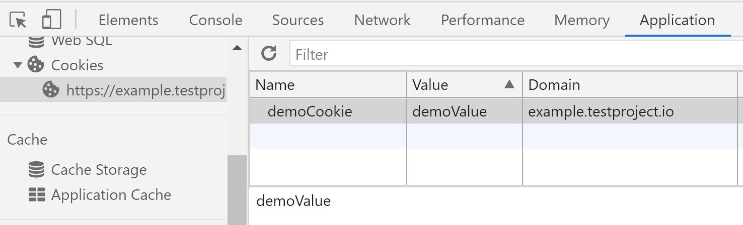 Cookie added with Selenium in browser
