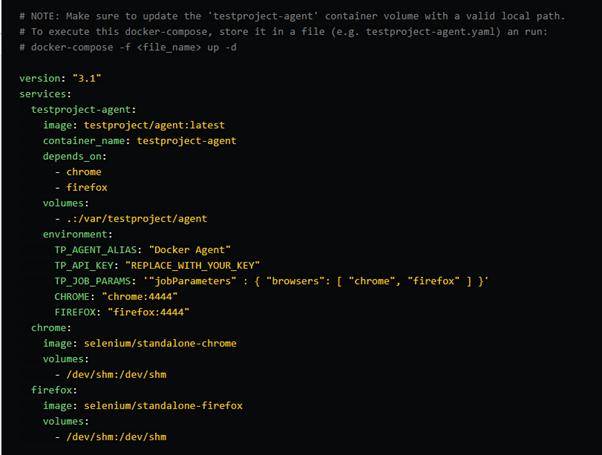 Docker Compose snippet