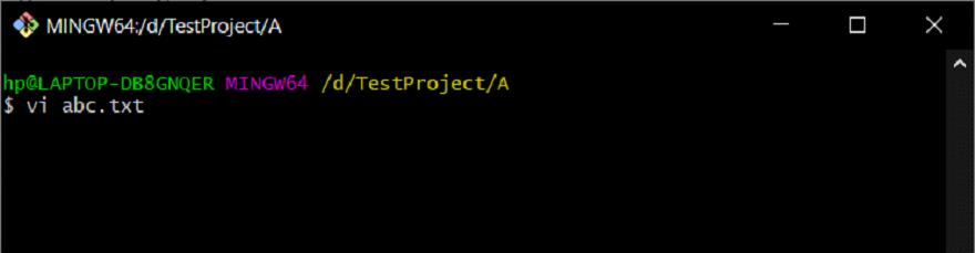 Edit File In CLI