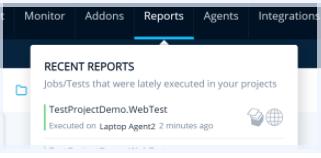 Screenshot of Recent Reports