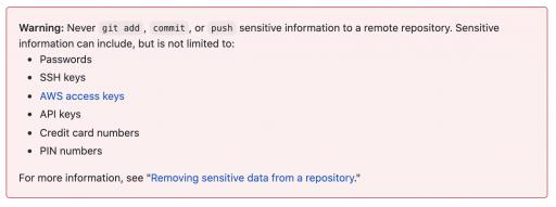 GitHub warning