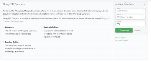 Download MongoDB Compass