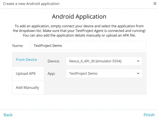 TestProject Android App