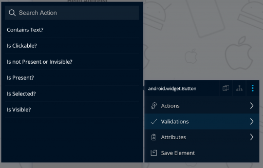 Select validation for element