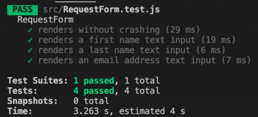 Our tests are still passing after our second style refactor