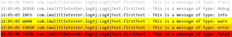 Logging Test Automation Information with Log4j