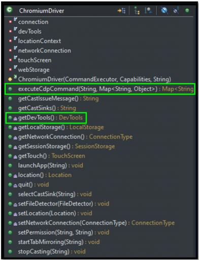 Chrome DevTools Protocol (CDP)