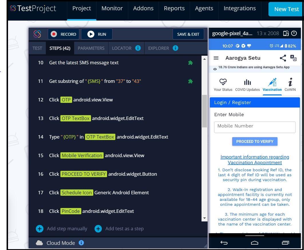 TestProject Mobile Test Recorder
