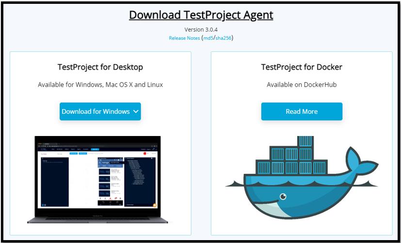 Download TestProject Agent
