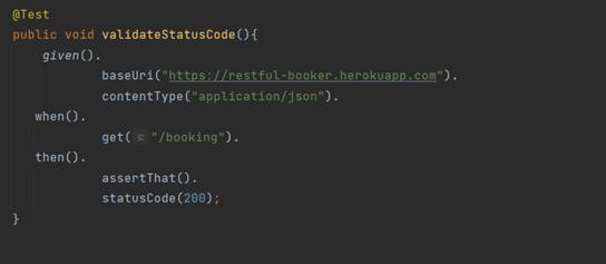 Validate Status Code