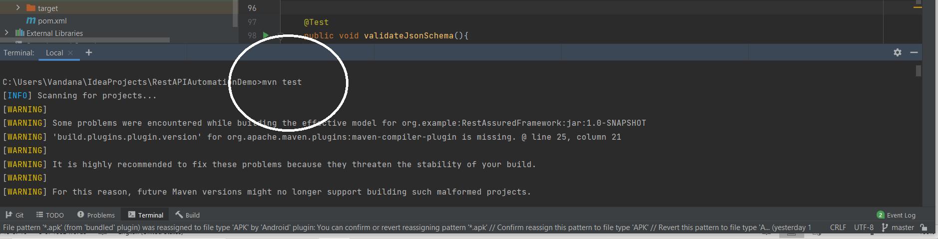 Rest API Automation: Run tests through Maven Commands