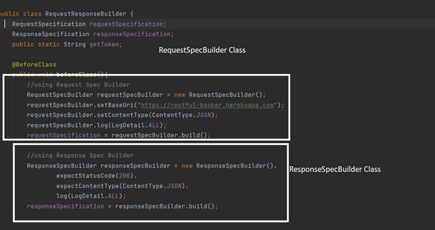Request Specification builder