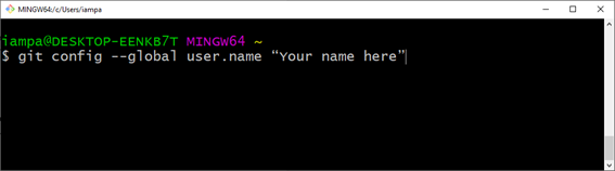Git guide: Configure your user in Git